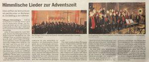 Adventskonzert Markuskirche Villingen 2018
